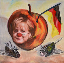 Selbstverliebt, Raute, Malerei, Apfel