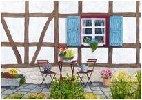 Bauenhaus, Fenster, Fachwerk, Landhausstil