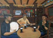 Irish pub, Gaststätte, Instrument, Irische kneipen musik