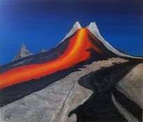 Realismus, Vulkan, Malerei