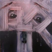 Malerei, Holz, Traurigkeit, Augen