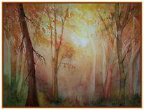 Laub, Wald, Herbst, Färbung