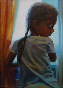 Portrait, Malerei, Gemälde, Gedanken