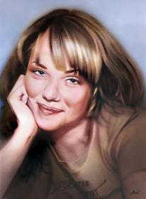 Portrait, Airbrush, Malerei