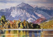 Weißensee, Berge, Algäu, See