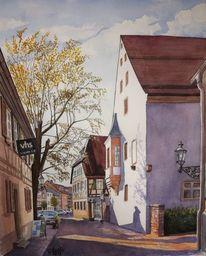 Volkshochschule, Odenwald, Malen, Wasserfarben