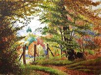 Aquarellmalerei, Natur, Landschaftsmalerei, Kinzert
