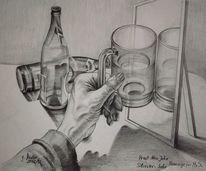 Silvester, Alkohol, Spiegel, Prost