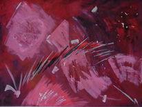 Zauber, Rot schwarz, Pink, Abstrakt