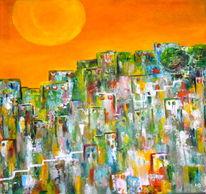 Skyline, Rio, Haus, Treppe