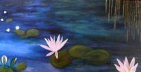 Teich, Seerosenteich, Pflanzen, Blumen