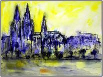 Kölner dom, Aero color, Marmormehl, Aquarellmalerei