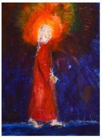 Laufen, Jesus, Wasser, Malerei