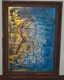 Magersucht, Krankheit, Malerei, Glas