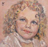 Kind, Portrait, Malerei, Menschen