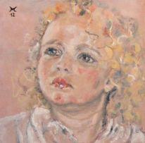 Portrait, Kind, Malerei, Menschen