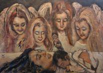 Neugeborenes, Geburt, Engel, Malerei