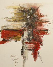 Pfeil, Rot, Licht, Malerei
