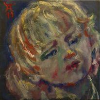Blick, Kinderkopf, Malerei, Pianist
