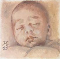 Baby, Allaprima, Malerei, Schlaf