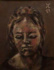 Hell, Siena gebrannt, Ölmalerei, Dunkel