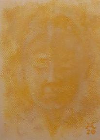 Ocker, Frau, Malerei