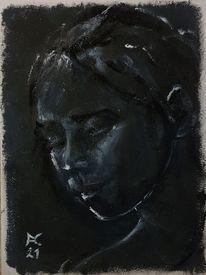 Schwarz, Weiß, Malerei,