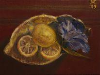 Irisblüte, Schale, Malerei