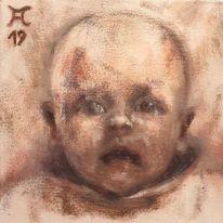 Kinderkopf, Augenschein, Erscheinung, Neugeborenes