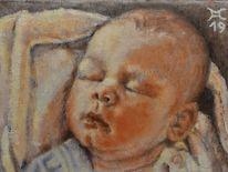 Baby, Neugeborenes, Malerei