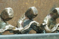 Handy, Detail des abendmahl, Bronze plastik, Plastik