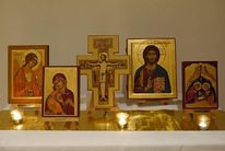 Ikonen, Heiliger michael, Fenster zur ewigkeit, Asissi kreuz