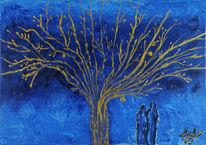 Blau, Zweisamkeit, Twoo, Baum