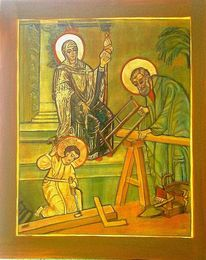 Gold, Holz, Werkstatt, Jesus