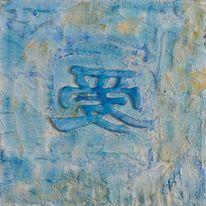 Zeichen, Glück, Symbol, Blau