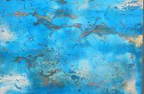Blau, Freiheit, Grenzenlos, Enkaustik