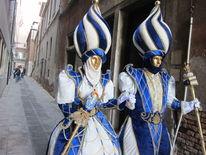 Paar, Venedig, Gasse, Kostüm