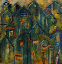 Freundlich, Stadt, Hoffnung, Malerei