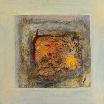 Licht, Abstrakt, Temperamalerei, Hartfaser
