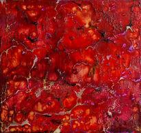 Enkaustik, Holz, Pigmente, Rot