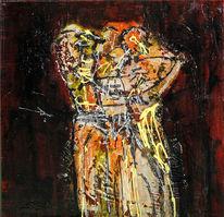 Kleid, Erinnerung, Temperamalerei, Expressionismus