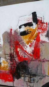 Wildkogel akademie, Rot schwarz, Abstrakt, Acrylmalerei