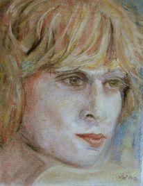 Portrait, Junge frau, Blick, Vergangenheit