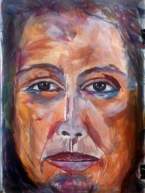 Freie malerei, Frau, Portrait, Ausdruck
