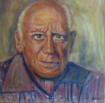 Picasso, Mann, Malen, Malerei