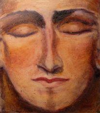 Entspannung, Gefühl, Gesicht, Ölmalerei