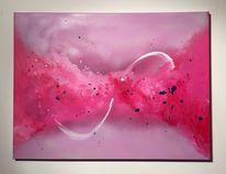 Dekoration, Acrylmalerei, Landschaft, Rosa