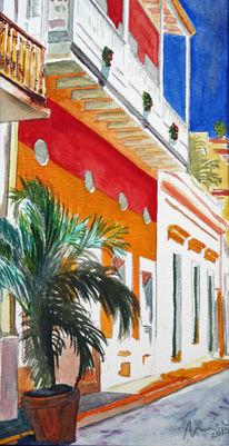 Karibik, Aquarellmalerei, Aquarell