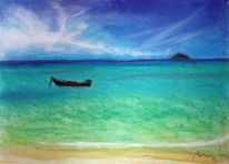 Karibik, Meer, Strand, Malerei