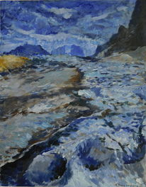 Winter, Himmel, Gemälde, Blau